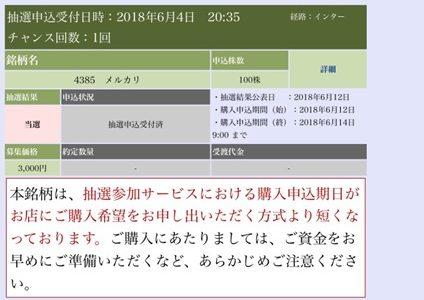 大和証券でメルカリのIPOに当選しました!【ブログで公開】